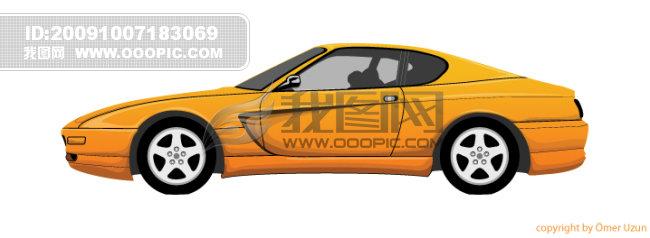 黄色汽车矢量_其他矢量图